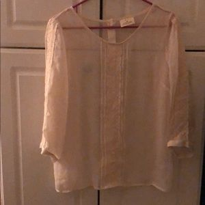 Cream Sheer Blouse Urban Outfitters